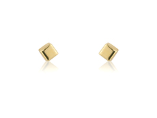 9ct Gold Small Cube Stud Earrings