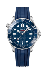 Omega Seamaster Diver 300M Omega Co-Axial Master Chronometer Blue Dial Stainless Steel Mens Watch 21032422003001
