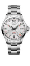 Longines Conquest V.H.P. GMT Silver Dial Stainless Steel Mens Quartz Watch L37284766