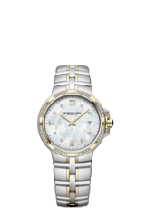 Raymond Weil Parsifal Mother of Pearl Dial Diamond Set Two Tone Womens Quartz Watch 5180-SPS-00995