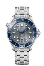Omega Seamaster Diver 300M Omega Co-Axial Master Chronometer Grey Dial Stainless Steel Mens Watch 21030422006001