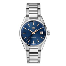 TAG Heuer Carrera Blue Dial Stainless Steel Womens Quartz Watch WBK1312.BA0652