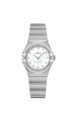 Omega Constellation Manhattan Mother of Pearl Diamond Set Dial Stainless Steel Womens Quartz Watch 25mm 13110256055001