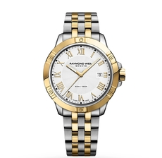 Raymond Weil Tango White Dial Two Tone Mens Quartz Watch 8160-STP-00308