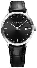 Raymond Weil Toccata Black Dial Stainless Steel Mens Quartz Watch 39mm 5485-STC-20001