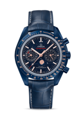 Omega Speedmaster Moonwatch Omega Co-Axial Master Chronometer Moonphase Chronograph Wristwatch Blue Side Of The Moon 30493445203002