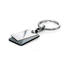 Fred Bennett Stainless Steel & Black PVD Keyring Y2597