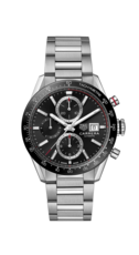 TAG Heuer Carrera Calibre 16 Black Dial Stainless Steel Mens Chronograph Watch CBM2110.BA0651