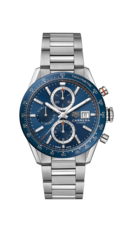 TAG Heuer Carrera Calibre 16 Blue Dial Stainless Steel Mens Chronograph Watch CBM2112.BA0651