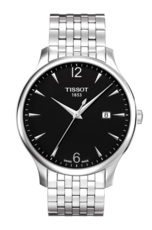Tissot Tradition Black Dial Stainless Steel Mens Quartz Watch T0636101105700