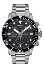 Tissot Seastar 1000 Black Dial Stainless Steel Mens Quartz Chronograph Watch T1204171105100
