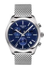 Tissot PR 100 Blue Dial Stainless Steel Mens Quartz Chronograph Watch T1014171104100