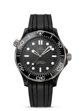 Omega Seamaster Diver 300M Omega Co-Axial Master Chronometer Black Dial Ceramic Mens Watch 21092442001001