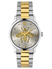 Gucci G-Timeless Iconic Bee Silver Dial Two Tone Unisex Quartz Watch YA1264131