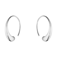 Georg Jensen MERCY Sterling Silver Large Hoop Earrings 10015603