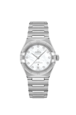 Omega Constellation Manhattan Mother of Pearl Diamond Set Dial Omega Co-Axial Master Chronometer Stainless Steel Womens Watch 13110292055001