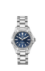 TAG Heuer Aquaracer Stainless Steel Blue Dial Womens Quartz Watch 35mm WBD131D.BA0748