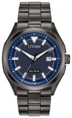 Citizen Eco-Drive Blue Dial Stainless Steel Mens Watch AW1147-52L