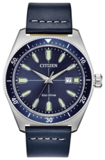 Citizen Eco-Drive Sport Brycen Blue Dial Stainless Steel Mens Watch AW1591-01L