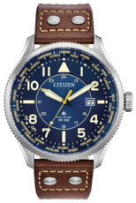 Citizen Eco-Drive Promaster Nighthawk Blue Dial Stainless Steel Mens Watch BX1010-11L