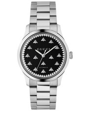 Gucci G-Timeless Black Onyx Dial Stainless Steel Unisex Automatic Watch YA1264130