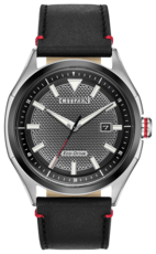Citizen Eco-Drive Black Dial Stainless Steel Mens Watch AW1148-09E