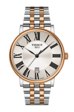 Tissot Carson Premium Silver Dial Two Tone Mens Quartz Watch T1224102203300