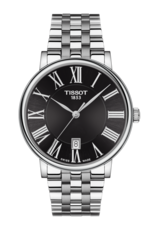 Tissot Carson Premium Black Dial Stainless Steel Mens Quartz Watch T1224101105300