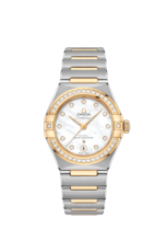 Omega Constellation Manhattan Mother of Pearl Diamond Set Dial Omega Co-Axial Master Chronometer Two Tone Womens Watch 13125292055002