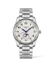 Longines Master Collection Silver Dial Moonphase Stainless Steel Mens Watch L29094786