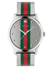Gucci G-Timeless Multi-Colour Dial Stainless Steel Mens Quartz Watch