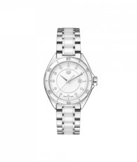TAG Heuer Formula 1 Stainless Steel & White Ceramic Diamond Set Womens Quartz Watch WBJ141AD.BA0974