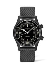 Longines Legend Diver Black Dial Black PVD Stainless Steel Mens Watch L37742509