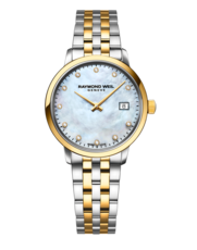 Raymond Weil Toccata Mother of Pearl Dial Diamond Set Two Tone Womens Quartz Watch 29mm 5985-STP-97081