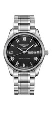 Longines Master Collection Black Dial Annual Calendar Stainless Steel Mens Chronograph Watch L29104516