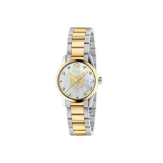 Gucci G-Timeless Feline Mother of Pearl Dial Two Tone Womens Quartz Watch YA1265012