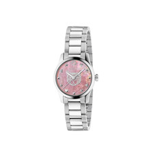 Gucci G-Timeless Feline Pink Mother of Pearl Dial Stainless Steel Womens Quartz Watch YA1265013