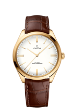 Omega De Ville Trésor 18ct Gold White Dial Omega Co‑Axial Master Chronometer Mens Watch 43553402109001