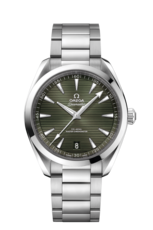 Omega Seamaster Aqua Terra 150M Omega Co-Axial Master Chronometer Green Dial Stainless Steel Mens 41mm Wristwatch 22010412110001