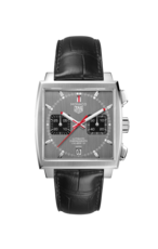 TAG Heuer Monaco Calibre 12 Final Edition Grey Dial Chronograph Stainless Steel Mens Watch CAW211J.FC6476
