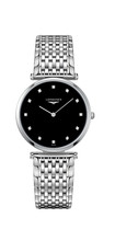 Longines La Grande Classique de Longines Black Dial Diamond Set Stainless Steel Womens Quartz Watch L47094556