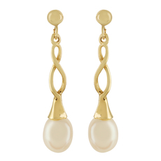 9ct Gold Cultured Freshwater Pearl Set Drop Earrings