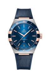 Omega Constellation 41mm Blue Dial Two Tone Co-Axial Master Chronometer Mens Watch 13123412103001