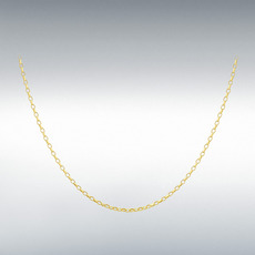 "9ct Yellow Gold Hollow Belcher Chain Link 18"" Necklace"