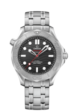 Omega Seamaster Diver 300M NEKTON Edition Omega Co-Axial Master Chronometer Black Dial Stainless Steel & Titanium Mens Watch 21030422001002