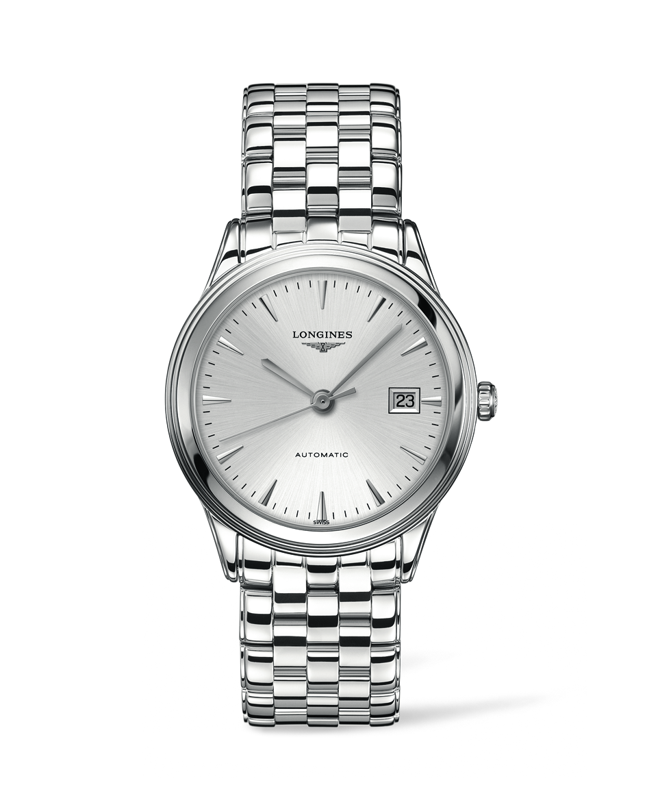 longines flagship silver dial stainless steel mens watch l48744726 longines flagship silver dial stainless steel mens watch l48744726