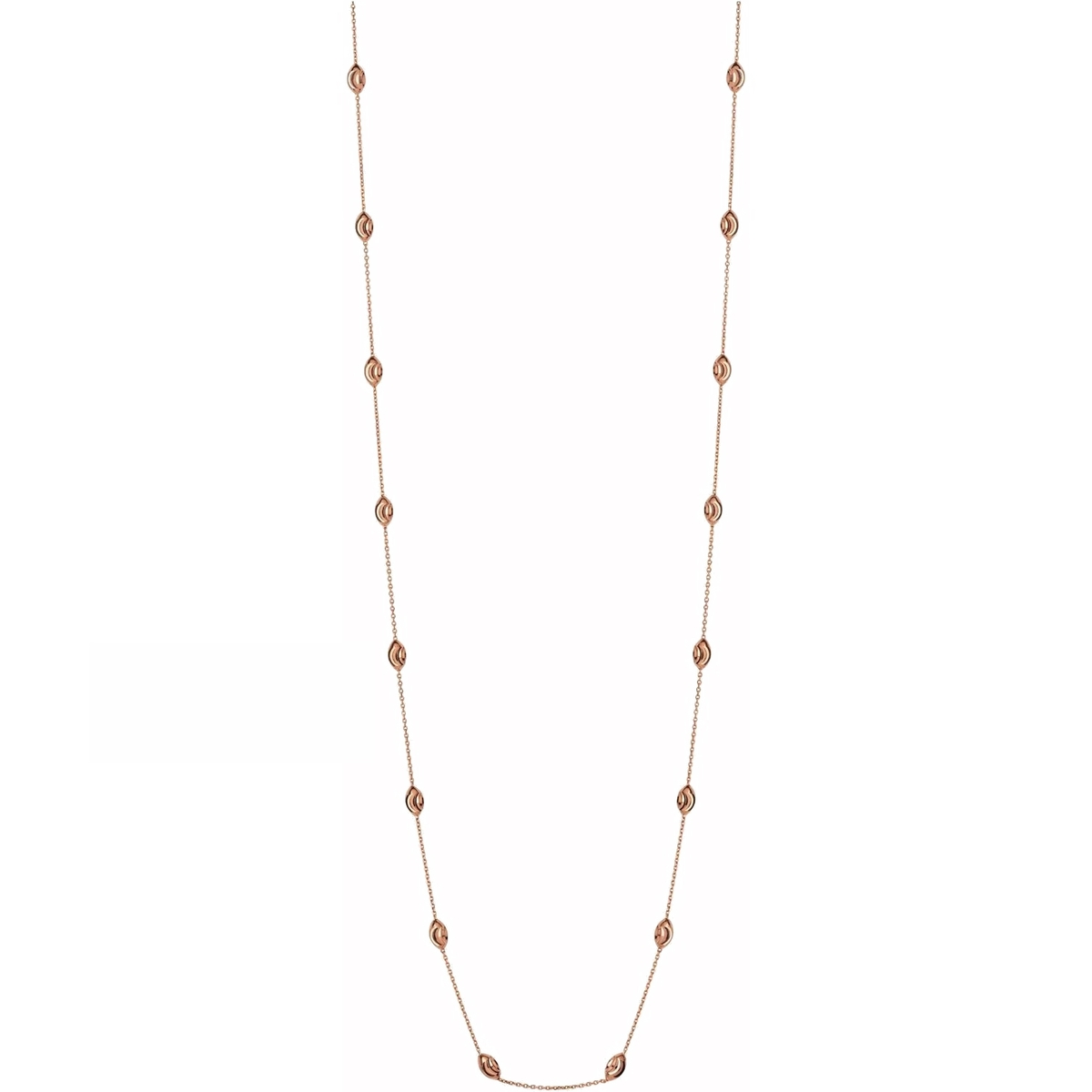 e766a99136ef Links of London Rose Vermeil Essentials Beaded Chain Necklace (80cm)  5020.3378